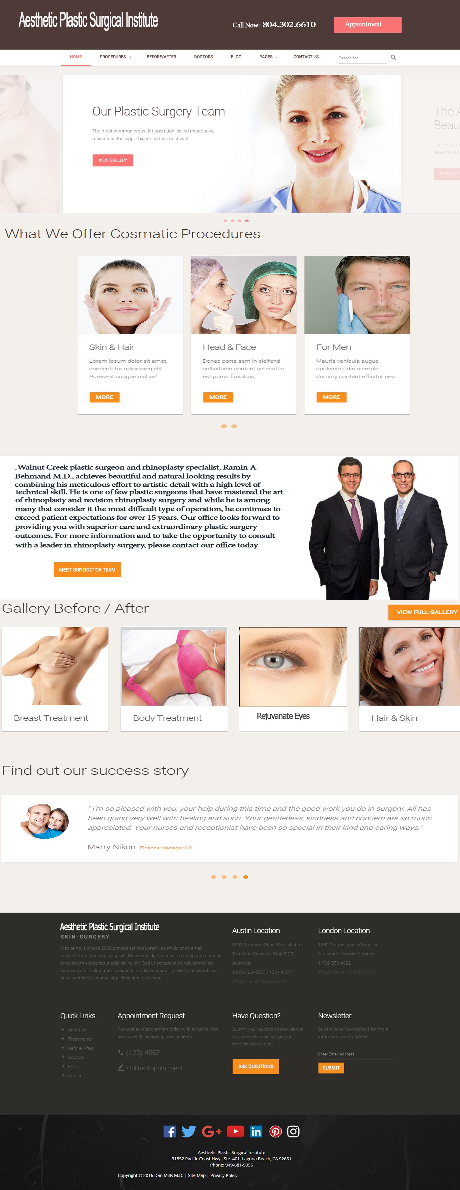 plastic surgeon website